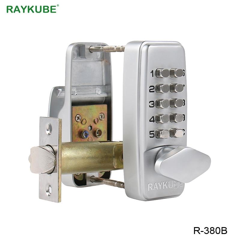 RAYKUBE Digital Password Door Lock Mechanical Code Keyless Entry Door Lock Waterproof R-380B