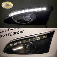 2 шт. для Chevrolet Aveo 2011 2013 2012 Желтый сигнал поворота реле автомобиля DRL лампы непромокаемые 12 В светодио дный в светодиодные дневные ходовые огни SNCN