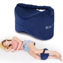 Memory Foam Knee Pillow Leg Cushions Side Sleeper Body Pillows Travel Under Knee Sleeping Gear Sciatica Pain Relief Back Support