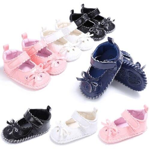Pudcoco Baby Soft Sole Leather Shoes Newborn Girls Crib Moccasin Prewalker 0-18M