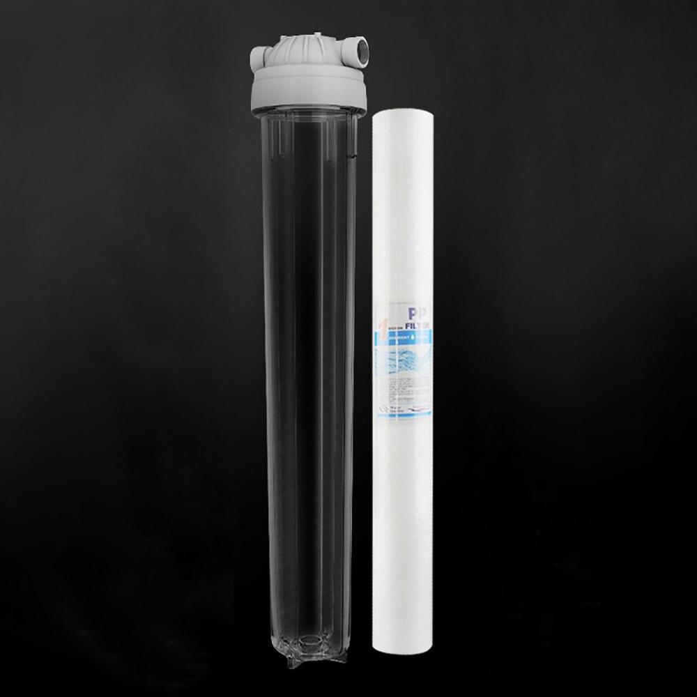 20 pouce filtre à un étage PP cto udf pré-filtre grand débit purificateur d'eau protecteur 15 kg antidéflagrant 1/2