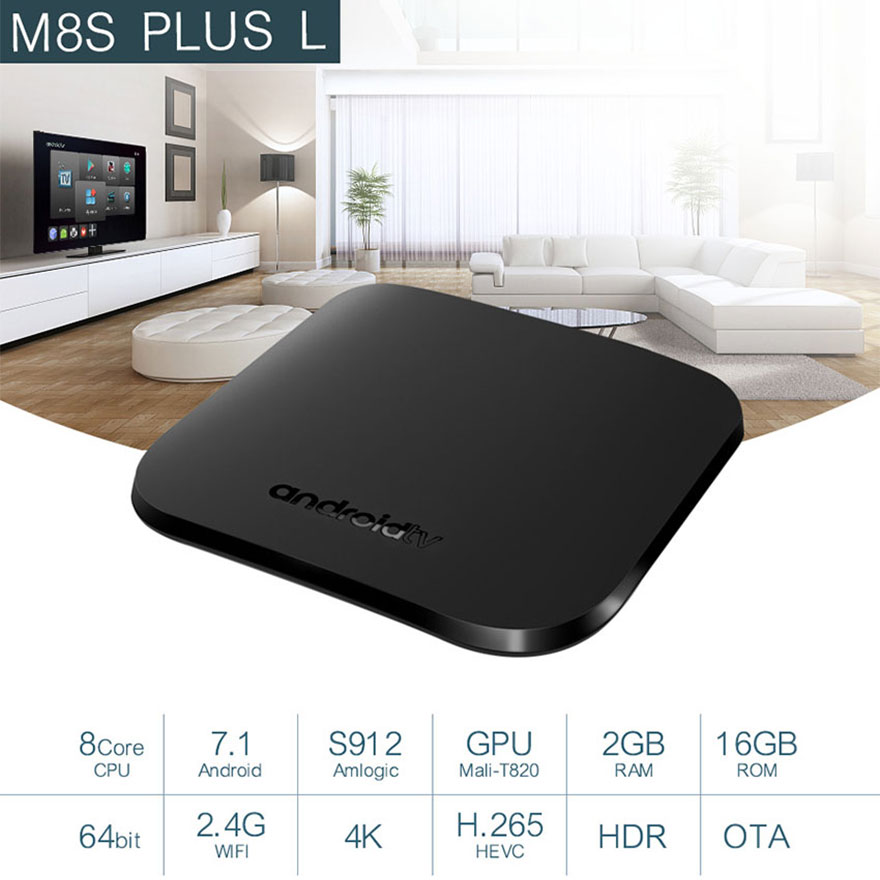 DVB-T2 ASTC For Android TV Box Android 7.1 4K Amlogic S905D 2GB+16GB ROM Support Youtube Google Store Netflix DVB Media PlayerDVB-T2 ASTC For Android TV Box Android 7.1 4K Amlogic S905D 2GB+16GB ROM Support Youtube Google Store Netflix DVB Media Player