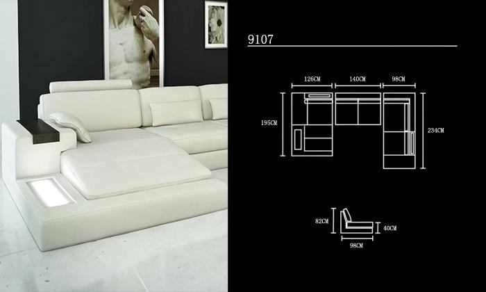 Sofa Jualan Panas Sofa Reka Bentuk Moden Sofa perabot Sofa Sofa Kulit - Perabot - Foto 5