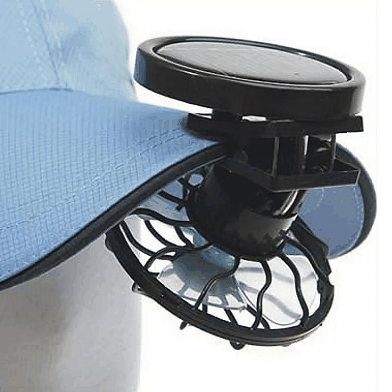 Outdoor Clip-on Solar Panel Mini Fans Sun Power Energy Panel Cooling Cell Fan For Camping Hiking Fishing Cooling Gadget