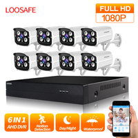 LOOSAFE 8CH CCTV Camera Security System AHD DVR Kit 1080P IR Night Vision Outdoor CCTV Camera P2P Video Surveillance CCTV kit