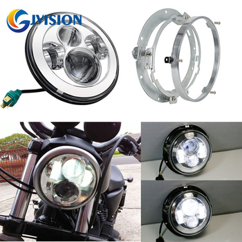 7'' led motorcycle Projector headlight Mounting Ring Bracket Adapter for Harley 94-13 street Glide Road King Dyna Softail