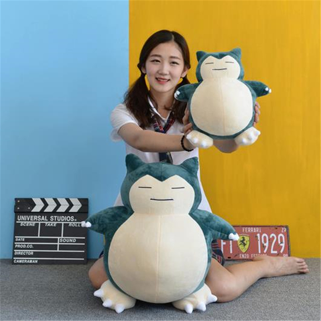 Anime Pokemon Snorlax Cosplay Props Toys Pillow Soft Cotton Kawaii Plush Doll 30cm 50cm Height Kids Child Teens Girls Collection 3