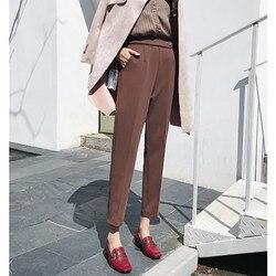 JUJULAND donna autunno pantaloni casual di Alta-end elegante pantaloni Nuovo autunno e in inverno i pantaloni 187