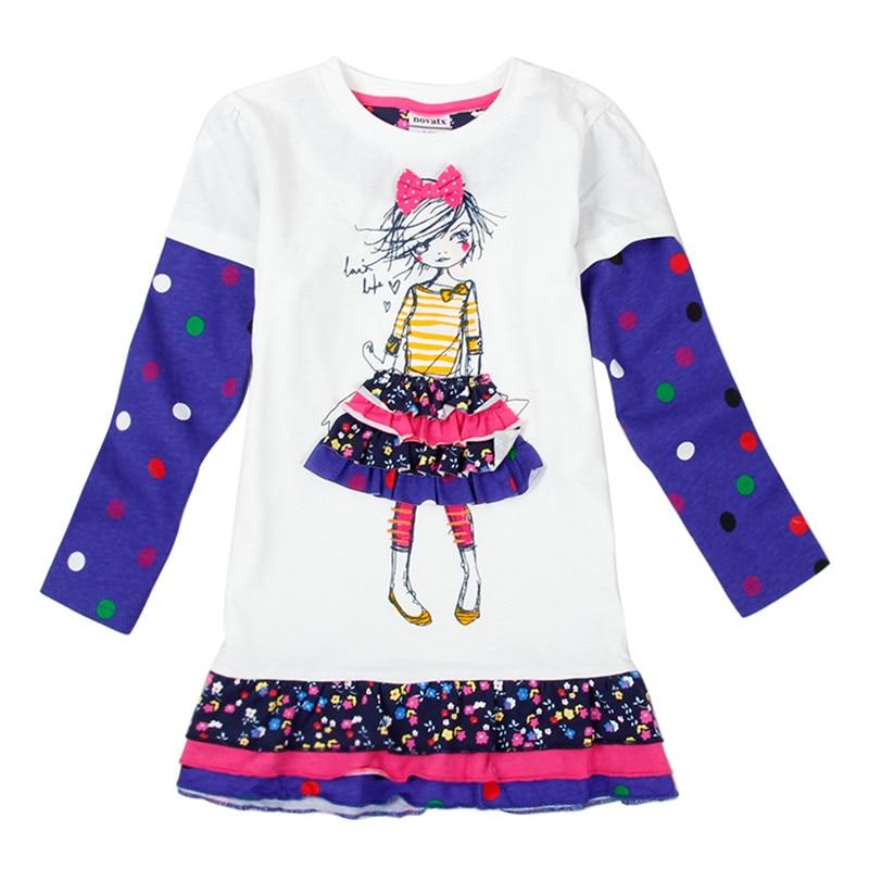 NOVATX hot selling baby meisje jurk katoen kinderen herfst dragen - Kinderkleding - Foto 2
