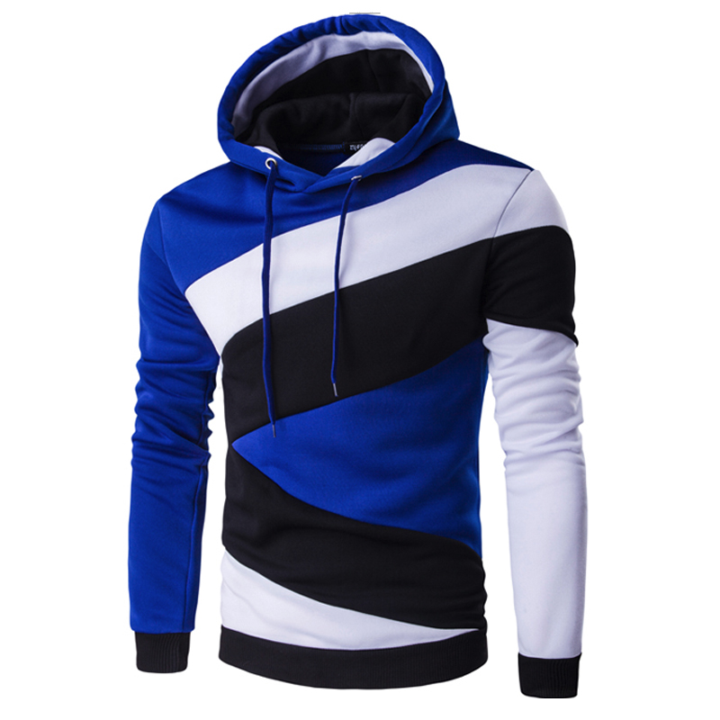 2018 Hoodies Mens Male Hip Hop Male Brand Hoodie Color Stitching Sweatshirt  Men Slim Fit Men Hoody XXL E5RV