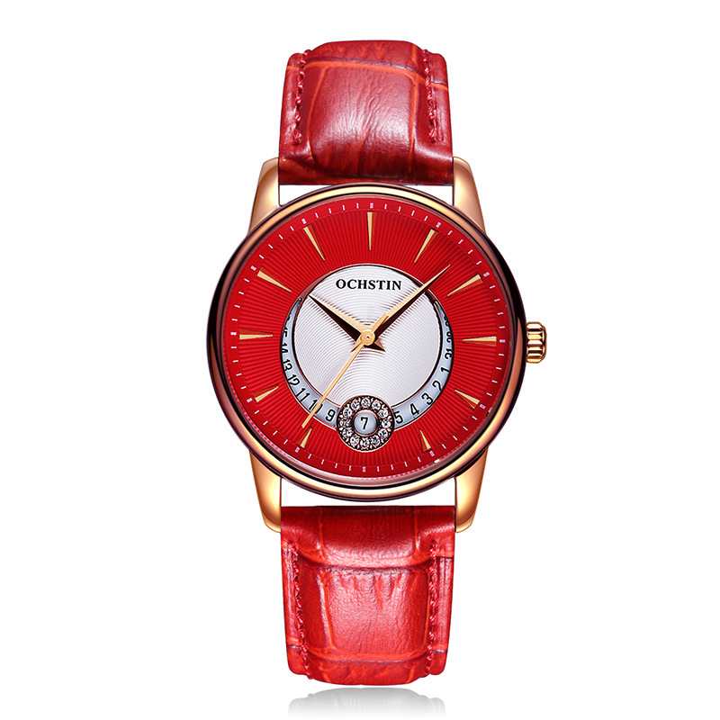 New Retro Simple Women Quartz Watch Fashion Noble Belt Waterproof Large Dial Female Watch Ladies Gift Free Shipping diamante azul