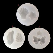 Wing Star Bow Shell Jewelry Mold Silicone Epoxy Resin Casting Pendant DIY Molds