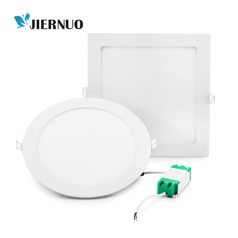 Led Light Panel 3W~25W Round Square Ultrathin Recessed light led Downlight Ceiling lamp AC85-265V indoor lighting