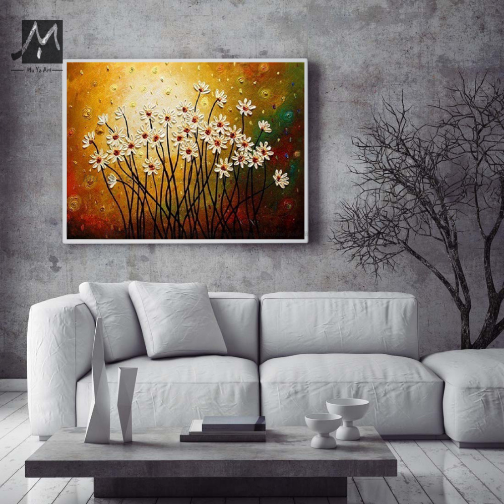 Paintings For Living Room Wall Aliexpresscom Buy Acrylic Large Canvas Wall Art Abstract Modern