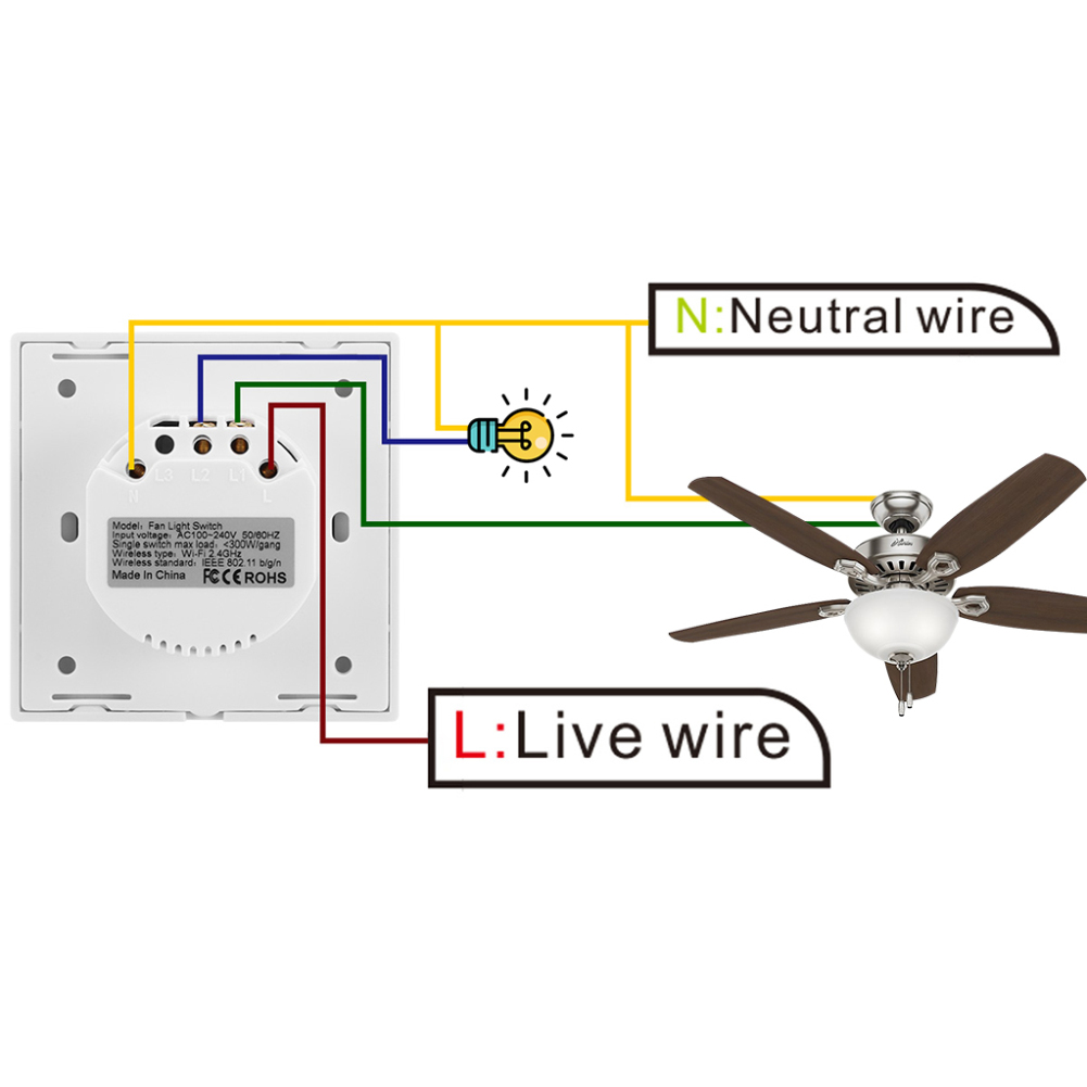 Image 4 - EU WiFi Smart Ceiling Fan Switch APP Remote Timer and Speed Control Compatible with Alexa and Google Home-in Smart Remote Control from Consumer Electronics