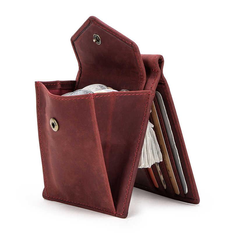 Женские кошельки с радиочастотной идентификацией, короткий зажим для денег, кошелек из нубука, коровья кожа, женский зажим, чехол для денег, винтажный органайзер для карт