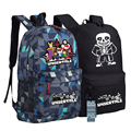 Undertale Sans Skeleton Backpack Bag Game Schoolbag Travel Students Bag Cospaly Gift Camouflage Mochila