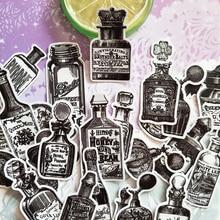 Pegatinas Vintage negras blancas para botellas, pegatinas para diario, pegatinas para planificador diario, pegatina decorativa para álbum de recortes DIY, álbumes de fotos artesanales