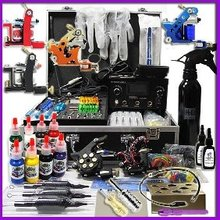 Professional Tattoo Kits with Dual LCD Power 6 tattoo Guns free shipping 20% OFF