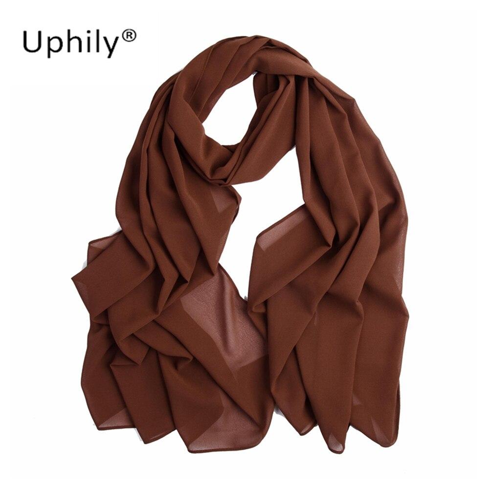 Uphily bonnet hijabs head scarves women's bubble chiffon hijab solid color muslim head scarf hijab underscarf instant hijab