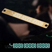 2019 Nuovo 15x2cm Auto Numero di Telefono Adesivo Della Carta di Notte Luminosa Temporanea di Parcheggio Auto Piastra Ventose Del Telefono numero di Carta