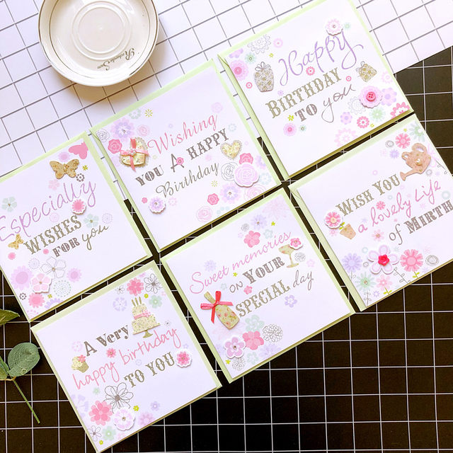 Online Shop Cute New Baby Cards Square Birthday Cards Baby Boygirl