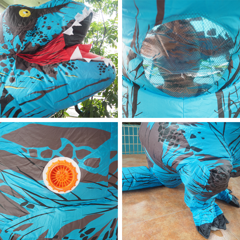 Adult T REX Costume Inflatable Dinosaur Party Costume Suit For Anime disfraces adultos costume Halloween Costumes for Women Men (22)