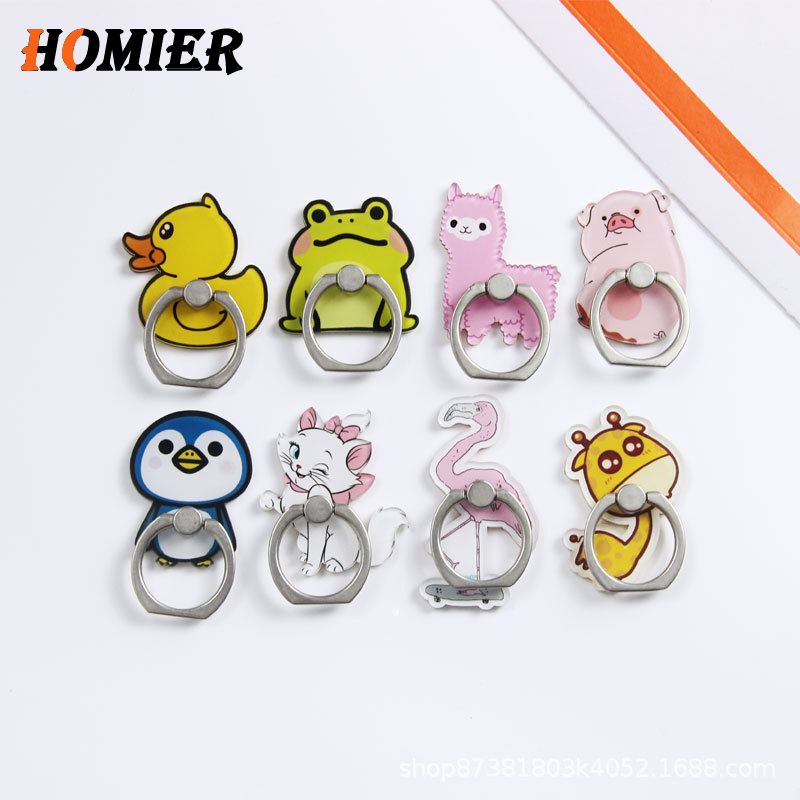 Universal Metal Hot Finger Ring Mobile Cell Phone Cute Cartoon Phone Holder Stand For IPhone 6s 7 8 Plus X Bracket Holder