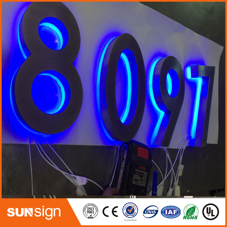 Backlit Stainless Steel Signage For Advertising 3D Illuminated Shop Front LED Letters Signs