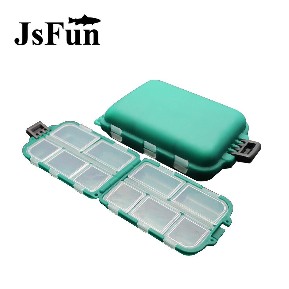 JSFUN Fishing Tackle Box For Fishing Sinkers Hooks Carp Fishing Accessories Peche Accesoires Fo063