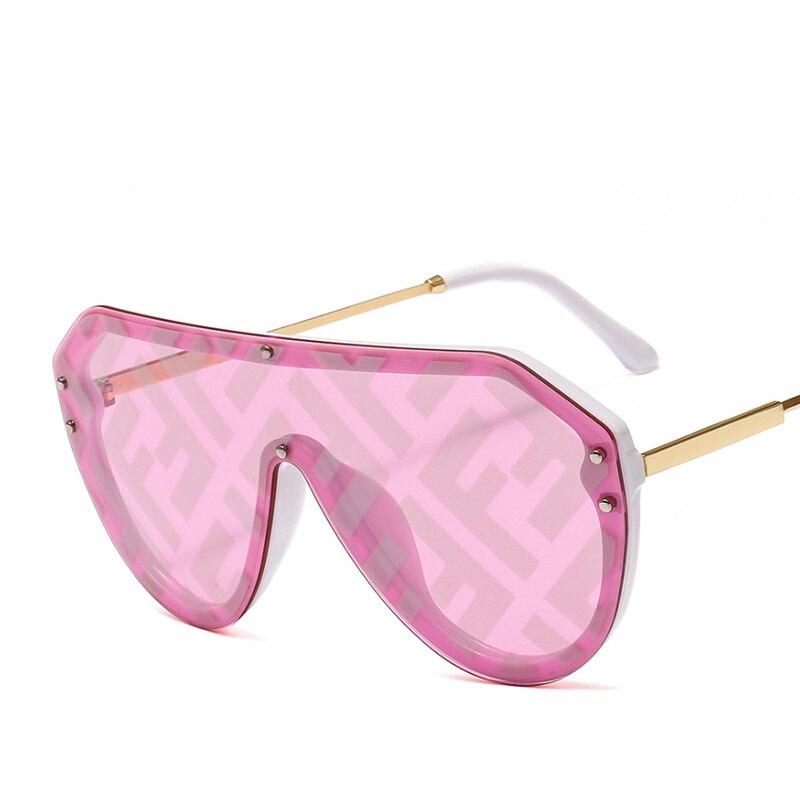 2019 New F Watermark One-piece Sunglasses PC Copy Film Men Women Sunglasses Girls Personality Colorful Fashion Wild Sun Glasse (21)
