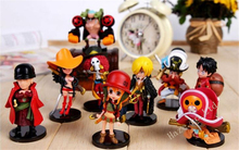 One Piece The New World Luffy Dolls PVC Figure Cosplay Toy Model Set Gift