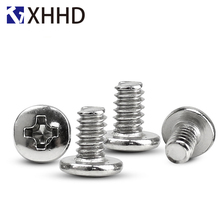 6#-32x6 Big Round Head Phillips Cross Screw PC Main Board for Computer Hard Disk Carbon Steel M3.5