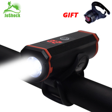 JOSHOCK NEW LED Bicycle Light Mountain Bike Usb Waterproof T6 Charging Headlights Night Riding with Rear View