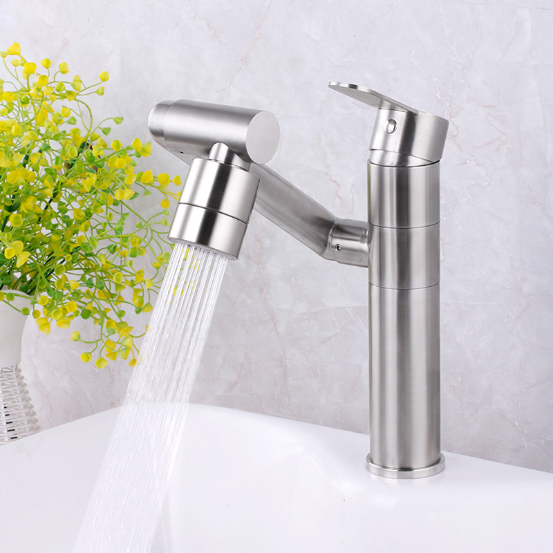 Kitchen Faucets Stainless Steel Brushed Kitchen Sink Faucet Swivel Kitchen Sink Mixer Taps Crane Faucet Hot Cold Cocina Torneira