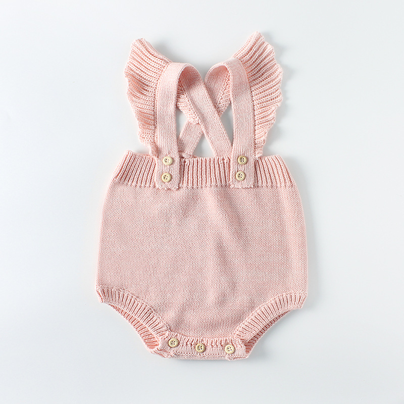 Baby clothes 2018 spring baby sweater for girls clothes infant sleeveless knit ropmers Ruffles Newborn jumpersuit