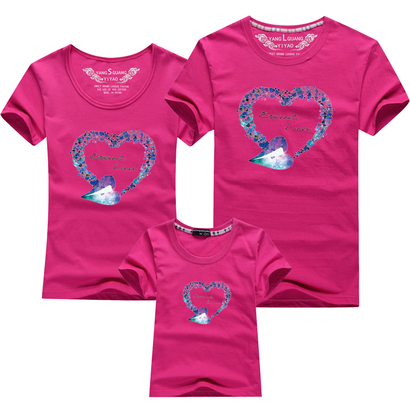 HTB1pEFMPFXXXXX0XpXXq6xXFXXXc - Mommy and Me Clothes Family Look Summer LOVE Ggarland Pattern Family T Shirt Father and Son Clothes Family Matching Outfits