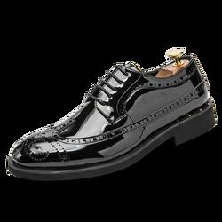 LettBao/2018 г.; модные брендовые мужские туфли-броги в деловом стиле; Мужские модельные туфли из искусственной кожи; черные туфли-оксфорды с