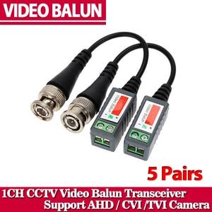 10pcs ABS Plastic CCTV Video Balun CCTV Accessories Passive Transceivers 2000ft Distance UTP Balun BNC Cable CAT5 Cable(China)