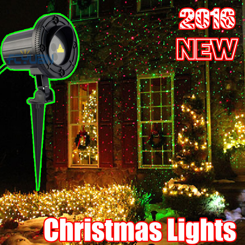 outdoor christmas laser projector holiday lights waterproof garden laser red green color for home decoration in stage lighting effect from lights lighting - Moving Outdoor Christmas Decorations
