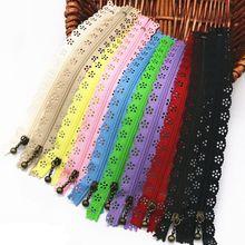 Rastgele renk 10 adet/grup 20 cm fermuarlar dantel naylon kaplama fermuar dikiş düğün elbisesi AA7461