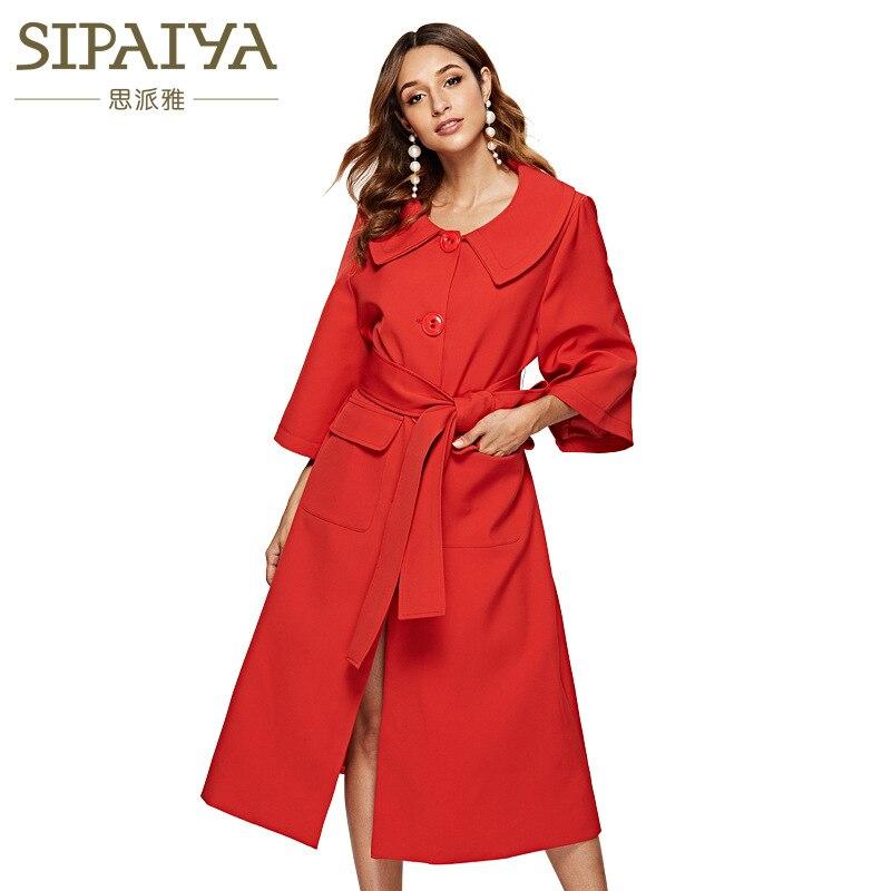 Casual Longue Couleur Femelle Poitrine Hepburn Haut rouge Unique Gamme Nouveau Manteau Hiver De blanc Automne Noir Mi Femme Pur 1qqv7xZ8
