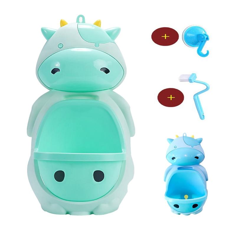 Boy Toilet Potty Cute Milk Cow Wall-Mounted Urinals Baby Potty Training Boy Baby Toilet Pot Portable Kids Child Toilet Potty
