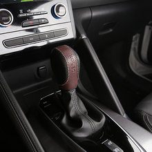 1 Piece Black Leather Car Gear Head Shift Knob Protection Cover Case for Samsung QM6 2017 2018 Accessories(China)