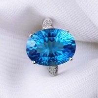 RADHORSE 925 серебряных колец для женщин ювелирные изделия 100% подлинный синий топаз 12*16 мм скульптура драгоценный камень роскошный стиль регулир