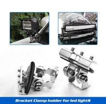 Led Light Bar Mounting Brackets 2pcs Universal A Pillar Hood LED Light Bar Mount Bracket Clamp Holder For Jeep Truck