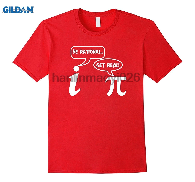 GILDAN Be Rational Get Real Imaginary Pi Day Funny Math T-shirt