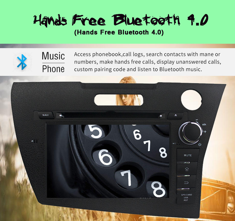 7 Inch 2 Din Android 1 Car Dvd Player For Honda Crz With Audio Stereo Gps Navigation Sat Navi Multimedia System In Dash