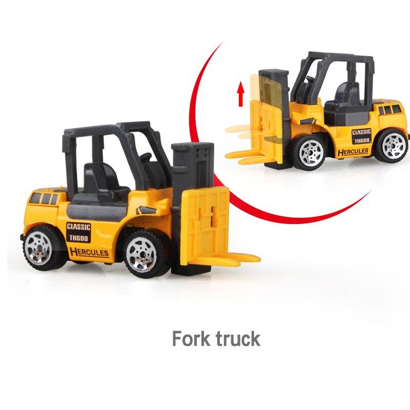 Литая под давлением сельскохозяйственная техника мини-модель автомобиля Инженерная модель автомобиля трактор инженерный автомобиль трактор игрушки модель для детей Рождественский подарок - Цвет: Forklift