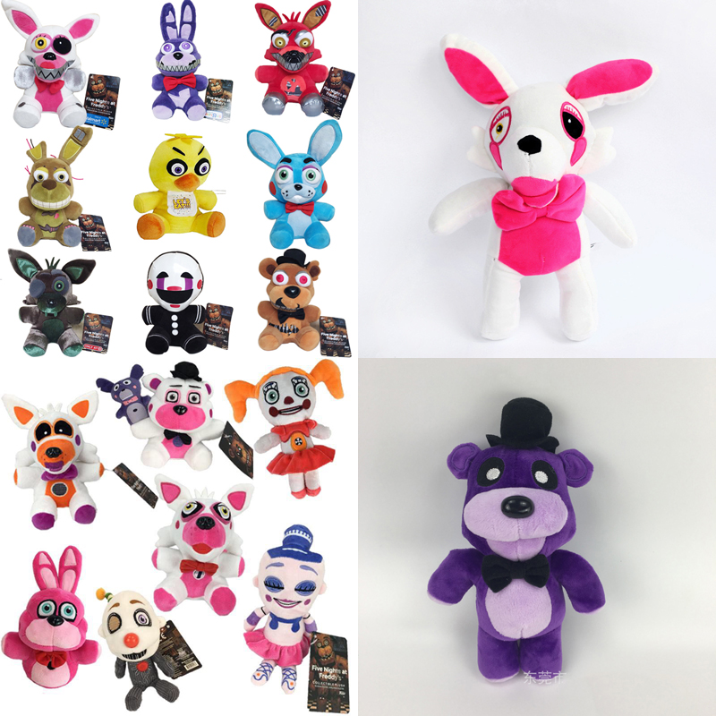 18 Style 20cm FNAF Plush Toys Five Nights At Freddy's 4 Freddy Bear Bonnie Chica Baby Ballora Foxy Plush Stuffed Toys Doll Gifts